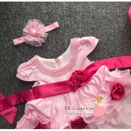 PRINCESS BABY GOWN166*2 - (W HAIRBAND)