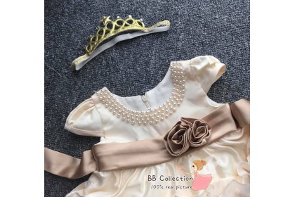 PRINCESS BABY GOWN167*2 - (W HAIRBAND)