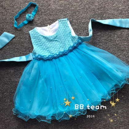 PRINCESS BABY GOWN 277-#OT18*4 #88501(W HAIRBAND)