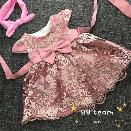 PRINCESS BABY GOWN 346-#MY20*4(W HAIRBAND) #66195