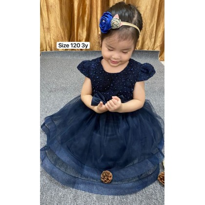PRINCESS BABY GOWN 433-(W HAIRBAND) 68012