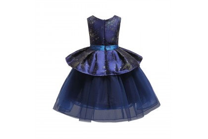 TODDLER DRESS 5-SHINING PEPLUM DRESS #3003 *4