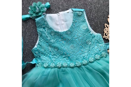 PRINCESS BABY GOWN 513-FB20*4 (W HAIRBAND) LONG GOWN