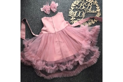 PRINCESS BABY GOWN 522-FB20*4 (W HAIRBAND) #8911