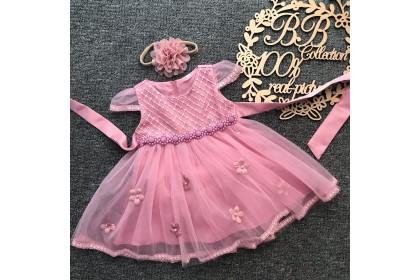 PRINCESS BABY GOWN 591-MY20*4 (W HAIRBAND) 66429