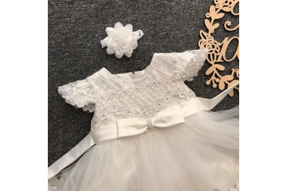 PRINCESS BABY GOWN 592-MY20*4 (W HAIRBAND) 8967