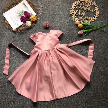 PRINCESS BABY GOWN 687-MR21*4 (W HEADBAND) 67023 BIG SIZE 100-140