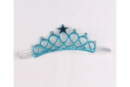 READY-CROWN HAIRBAND (BLUE + SILVER)