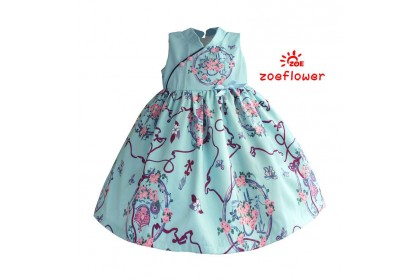 ZOE CNY GOWN 8(3-8Y)-CLEARANCE
